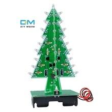 3D Рождественская елка 7 цветов светильник Flash СВЕТОДИОДНЫЙ схема Рождественские елки светодиодный Diy комплект электронный модуль платы блока программного управления DC 4,5 V-5 V