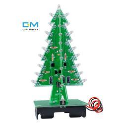 3D Рождественская елка 7 цветов свет вспышка светодиодный цепи Рождественские елки светодиодный электронный комплект модуль платы блока