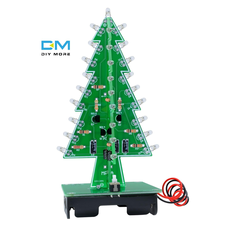 3D Xmas Tree 7 Color Light Flash LED Circuit Christmas Trees LED Diy Kit Electronic PCB Board Module DC 4.5V-5V