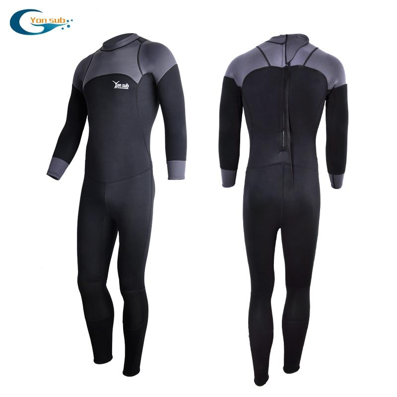 YONSUB Neoprene 3mm Wetsuit Long & Short Sleeves Diving Suit Men Close Body Spearfishing Scuba Dive Surfing Snorkeling Swimsuit