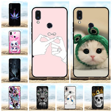 For Meizu Note 9 Cover Ultra-slim Soft TPU Silicone Protective Case Lion Patterned Coque Bag