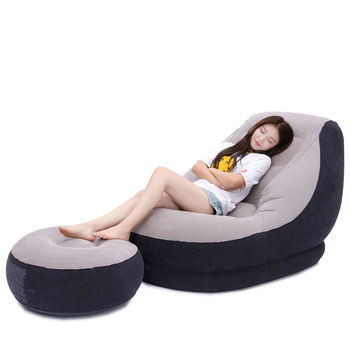 Lazy Couch Tatami Inflatable Sofa Creative Small Apartment Seat Single Cute Folding Recliner Bed