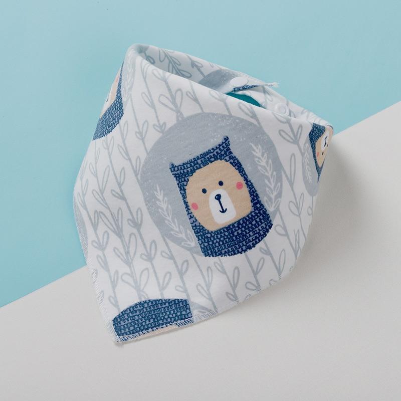 Бандана-нагрудник из хлопка, детская одежда для кормления, треугольная слюнявчик для младенцев, мультяшное слюнявчик, аксессуары для кормления младенцев, детские вещи 6