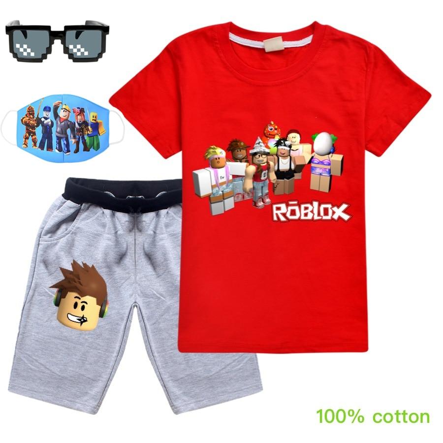 2020baby Clothes Suit Children Fashion Boys Girls Cartoon Roblox T