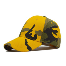 Pure cotton camouflage baseball cap, fashionable net sport duck tongue outdoor sunscreen sunshade
