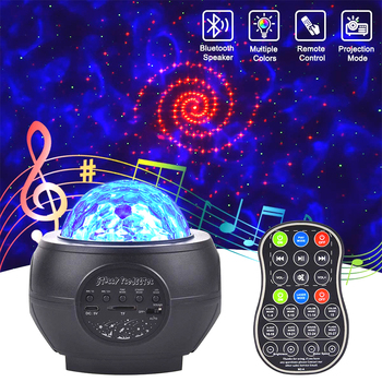 LED Starry sky projector USB bluetooth night light Romantic colorful starry sky projection lamp with remote control party lamp mew starry sky babysbreath autorotation led night light