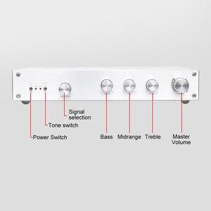 Image 2 - Aiyima hifi 클래스 a 프리 앰프 앰프 treble midrange bass 독립 톤 볼륨 컨트롤 프리 앰프 4 웨이 입력 홈 시어터