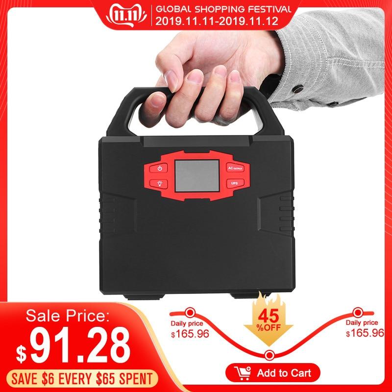 40800mAh 110/220V 150W UPS Lithium Emergency Solar Power Supply Modified Sine Wave LED Display Portable Car Emergency Power Bank