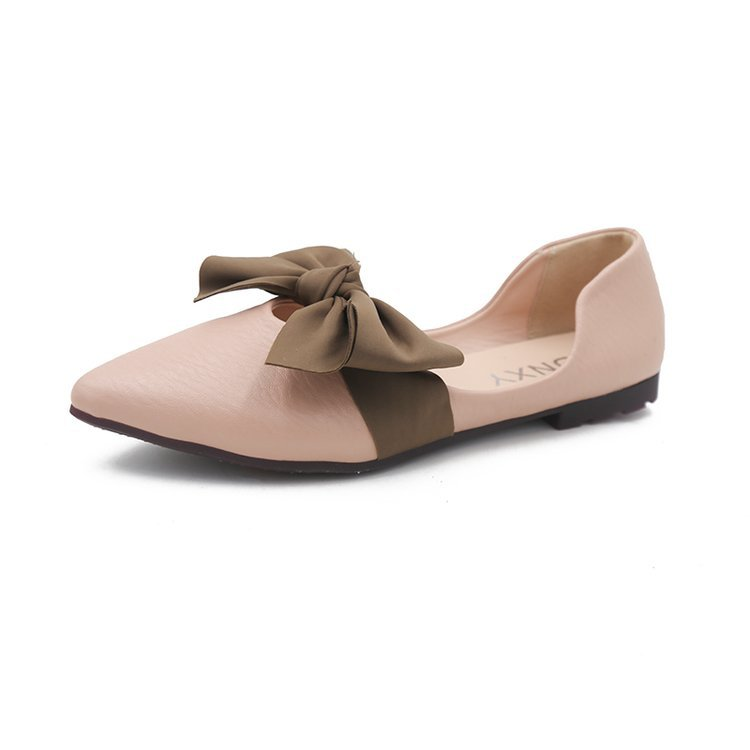 Women's Flats Pointed-Toe Fashion Butterfly-Knot Summer Casual Solid Shallow All-Match