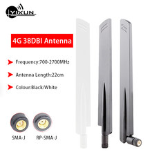 38dbi high gain 2G 3G 4G LTE omnidirectional glue stick antenna full band 700-2700MHz 22cm router antenna sma male interface(China)