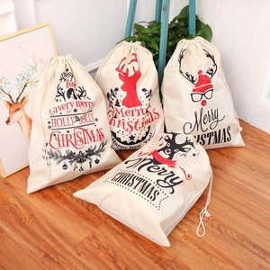 Image 1 - Large Size Christmas Bags Santa Sacks Merry Christmas Xmas Party Happy New Year Holiday DIY Decorations Favor Gifts Bags