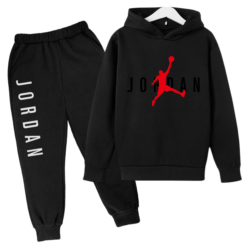 Strange Things Basketball Prince Jordan No. 23 Jersey + Pants Print Women's Hoodie Autumn Two-piece Super Sweatshirt Kids