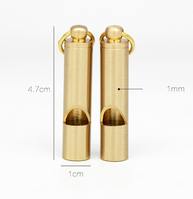 Brass Outdoor Survival Whistle Equipment Army Fan Supplies Retro Referee Brass Whistle Pure Brass Survival EDC Whistle 5