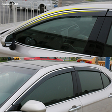 цена на For Toyota Camry 2018 2019 Car Sun Rain Vent Guard Shield Delflector Window Visor Awnings 4Pcs/Set Cover Trim Auto Accessories