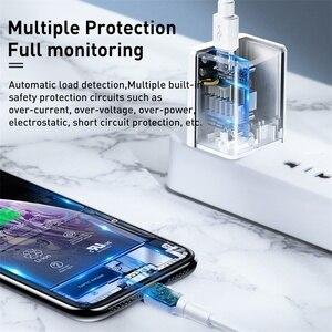 "Image 4 - Baseus ארה""ב תקע USB מטען 18W סוג C פ""ד מהיר מטען נייד מתאם נסיעות מטען קיר טעינה מהירה עבור סמסונג עבור Huawei"