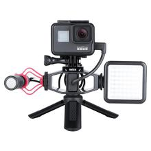 VIJIM GP-1 Vlogging GoPro Tripods Setup Bracket with 2 Cold Shoe Mic Mount Tripod Adapter for DJI OSMO ACTION On Stock