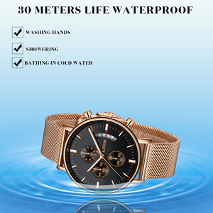 Image 5 - Lige 2019 새로운 패션 캐주얼 메쉬 벨트 쿼츠 골드 시계 여성 시계 톱 브랜드 럭셔리 날짜 방수 시계 relogio masculino