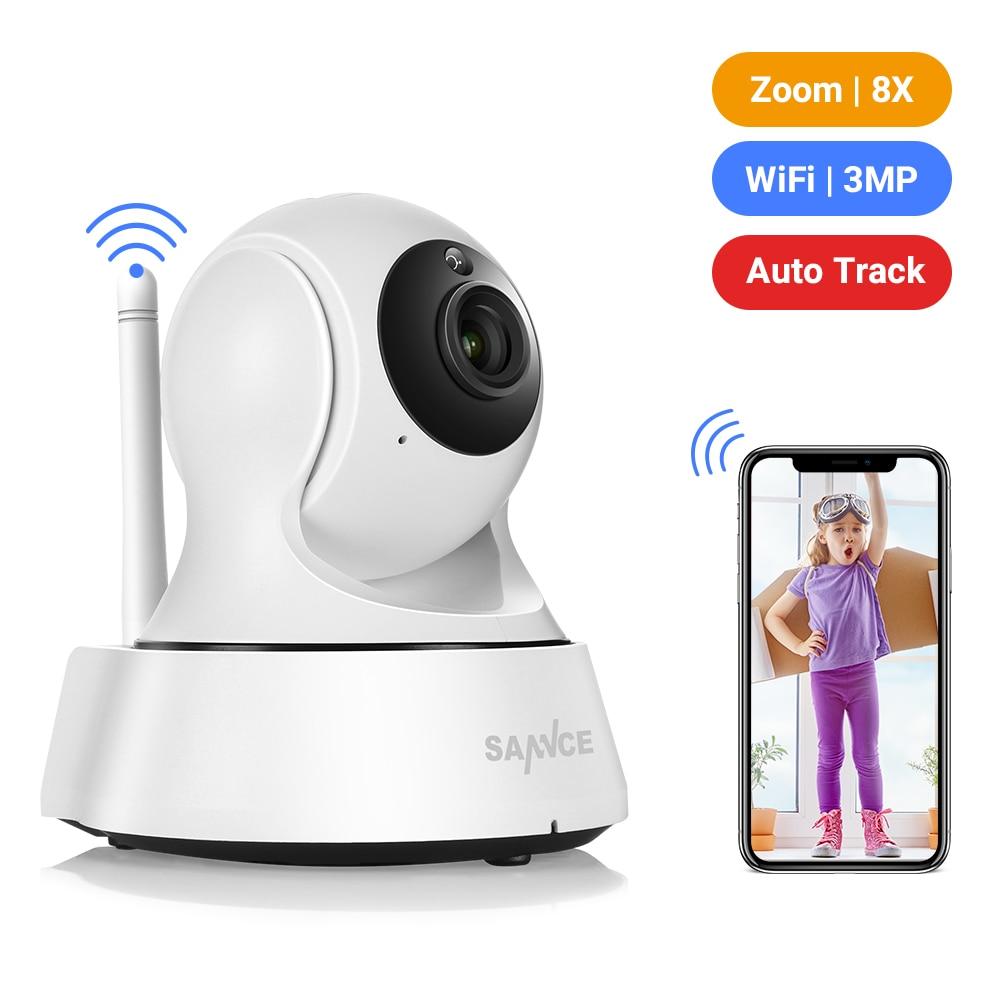 Camera SANNCE 2K Home Security IP Camera Wi-Fi Senza Fili Mini Telecamera di Rete di Sorveglianza Wifi 3MP di Visione Notturna del CCTV Della Macchina Fotografica Del Bambino monitor