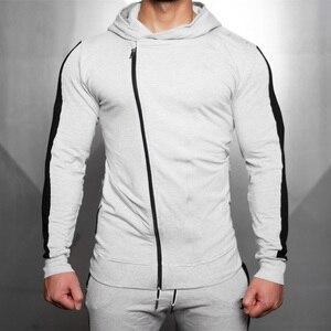 Image 3 - Fatos de treino dos homens correndo ternos do esporte moletom moletom ginásio fitness formação hoodies e calças define masculino jogging roupas