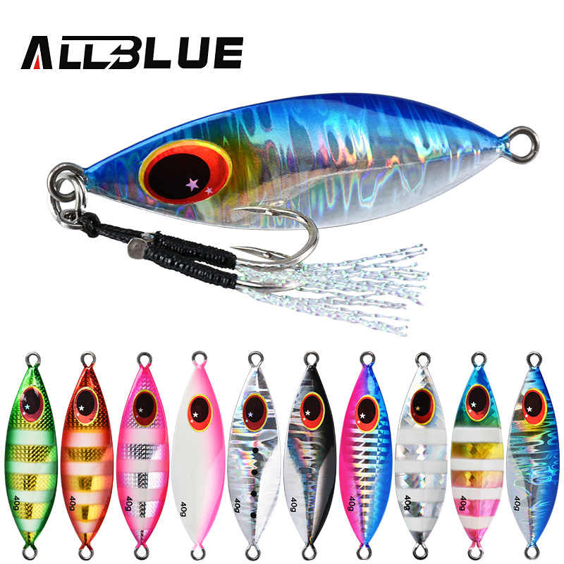 Allblue Atlas Metalen Jig Lepel Lokken 14G 20G 30G 40G 60G Kunstmatige Aas Shore Slow jigging Super Hard Lood Bass Visgerei
