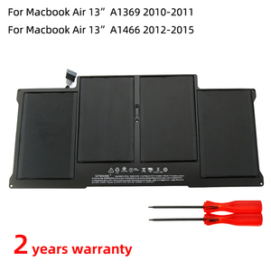 SZTWDONE A1496 New Laptop battery for APPLE MacBook Air 13 Inch A1369 A1466 A1377 A1405 MD760LL/A MD761LL/A 7.6V 54.4WH 7150MAH