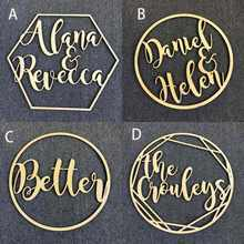Personalized Wedding Sign Hoop Style Name Wooden decor,Reception Decor,wedding sign Hoop,Photo Prop Wall Sign For Bride & Groom - DISCOUNT ITEM  5% OFF Home & Garden