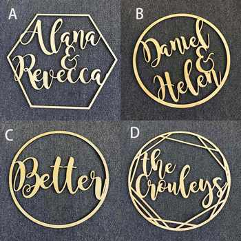 Personalized Wedding Sign Hoop Style Name Wooden decor,Reception Decor,wedding sign Hoop,Photo Prop Wall Sign For Bride & Groom