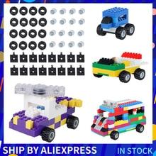 Blocks Classic Bricks-Accessories Car-Wheels Educational-Toys Children for 48pcs Axles