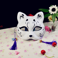 10 Lot New Fox Half Face Mask Japanese Private Fox Mask Cat Natsume's Book of Friends Halloween Cosplay Animal Masks Party Masks