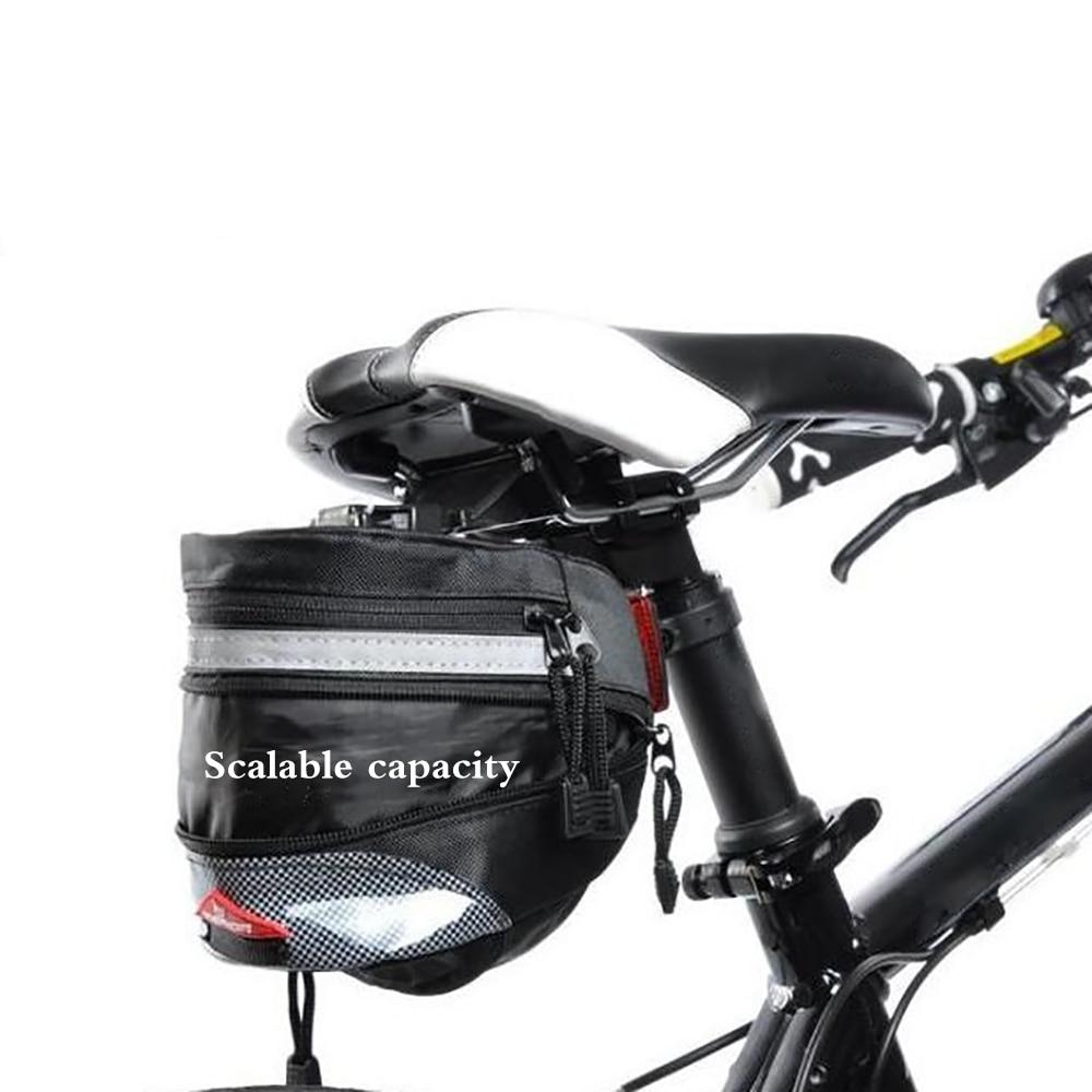 Bicycle Tail Bag Saddle Bag Mountain Bike Road Bike Rear Seat Bag Tool Bag Detachable Bicycle Riding Equipment Bike Accessories