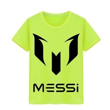 Chico chica camiseta de los niños Camiseta de algodón puro bebé camisetas Lionel Messi niños camiseta de Barcelona de la Copa del Mundo de fanáticos de Argentina T camisa