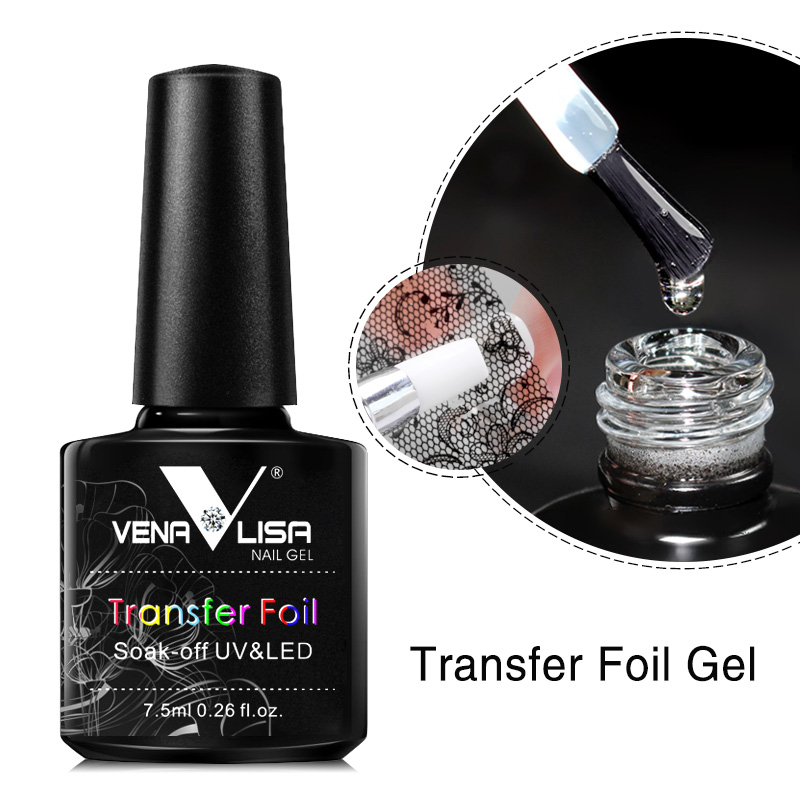 Venalisa Foil Transfer Gel Easy Apply Nail Art Design Manicure Enamel Gel Polish UV LED Gel Nail Polish Lacquer Varnish Foil 3
