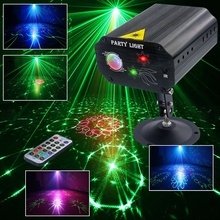 48 pattern DJ Disco Party Lights LED Strobe Light Laser Projector Stage Lighting for Birthday Parties Bar KTV Xmas Wedding