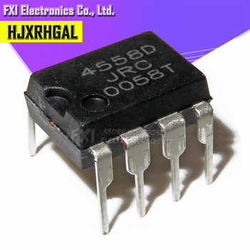 20PCS NJM4558D DIP8 NJM4558 DIP JRC4558D JRC4558 Dual operational amplifier New original - sale item Active Components