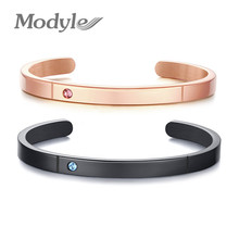 Wedding-Bangles Jewelry Custom-Name Stainless-Steel Woman And Modyle for Red Green Cz-Stone
