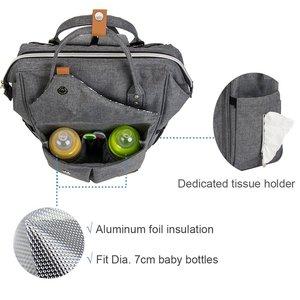 Image 3 - Lekebaby Fashion Diaper Bag Backpack Quilted Large Mum Maternity Nursing Bag Travel Backpack Stroller Baby Bag Nappy Baby Care