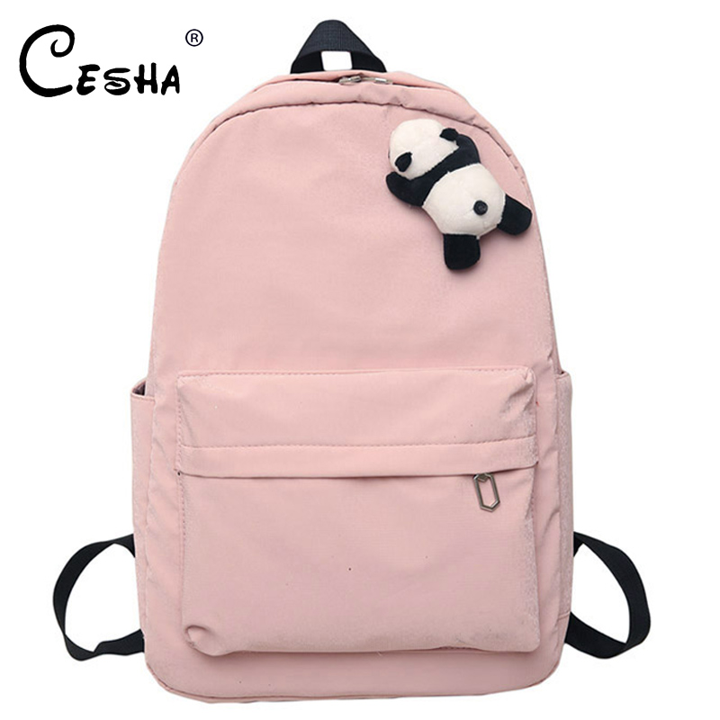 Fashion Panda Hanging Backpack Female Pretty Style Light Nylon Women Travel Backpack High Quality Waterproof School Backpack SAC