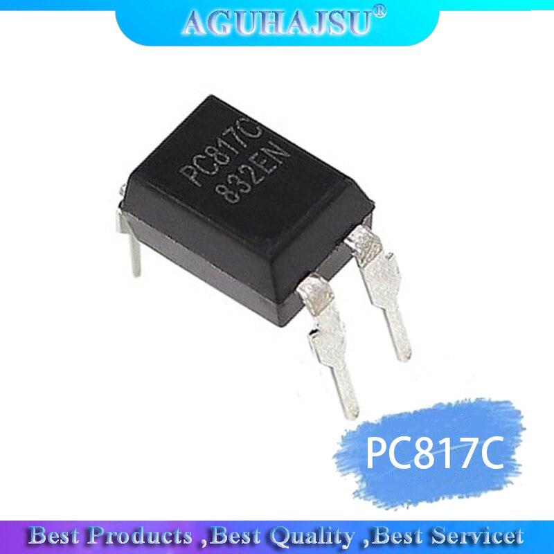 50 Uds. PC817C DIP4 PC817-C DIP PC817 C nuevo fotoacoplador/C/optoacoplador DIP de salida del transistor-4 fuente de alimentación de uso común