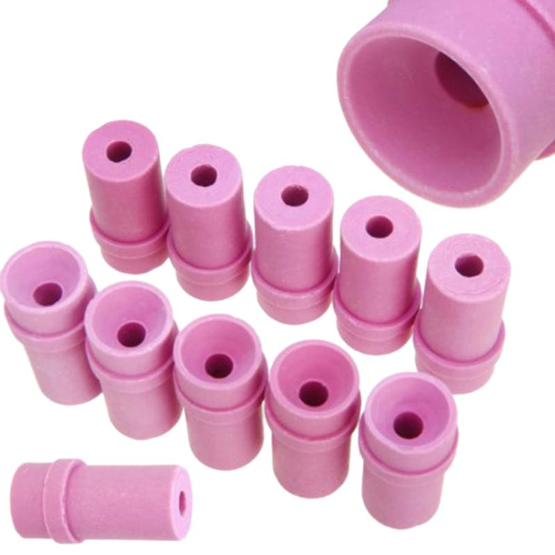 Promotion--Ceramic Sandblast Nozzle Air Sandblaster Tips For Pneumatic Blasting Tools 10Pcs 2x1.5x4Cm