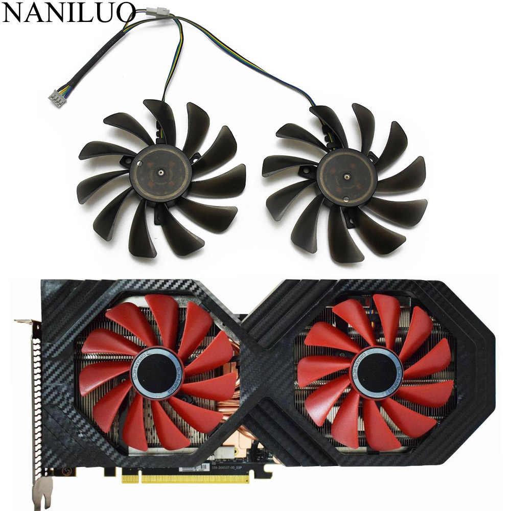 2pcs Lot 95mm Fdc10u12s9 C Cf1010u12s Vega 64 56 Double Edition For Xfx Amd Radeon Vega56 Vega64 Rx590 Graphics Card Cooling Fan Aliexpress