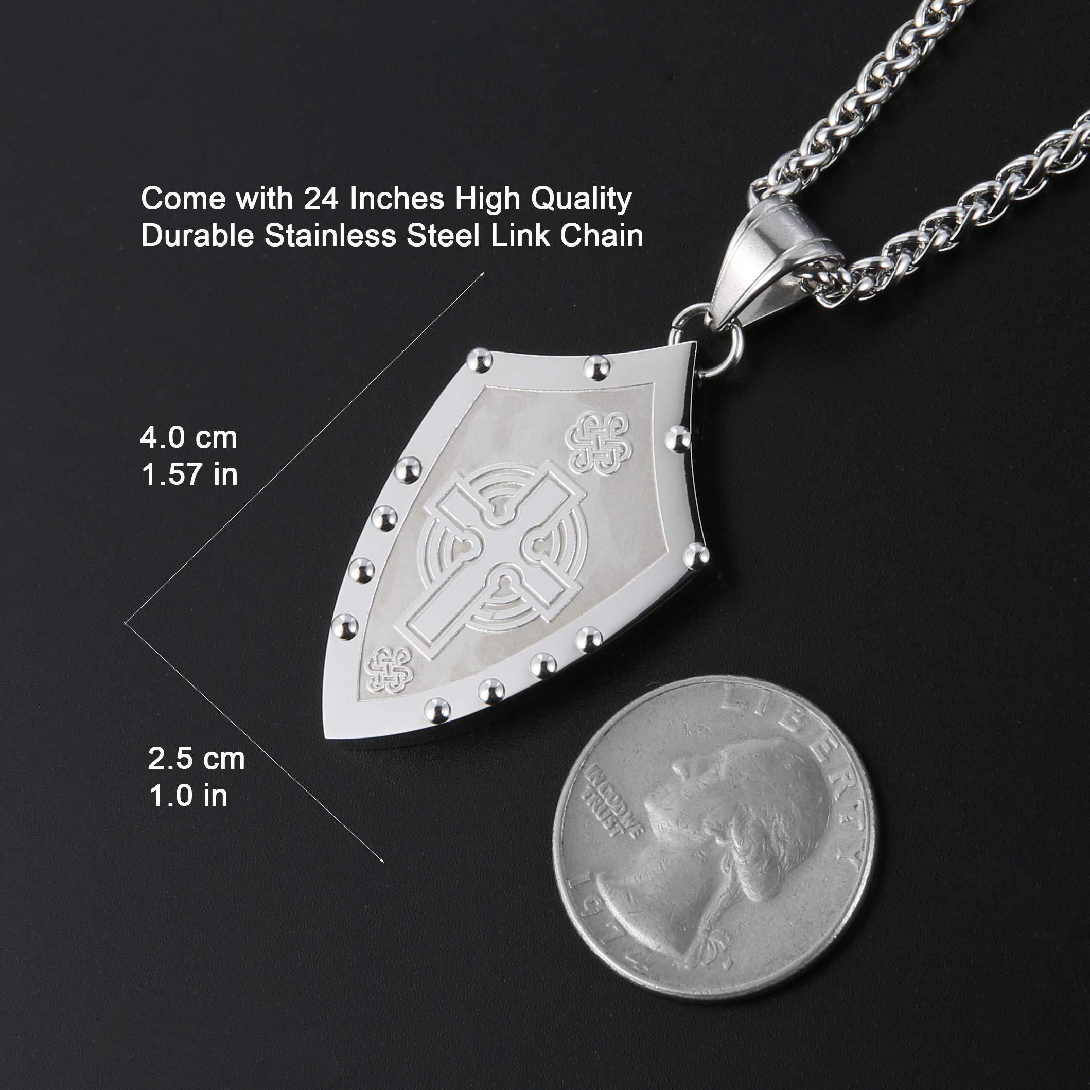 Runenkreuz amuleto collar celtas cuero señores negro cadena señores cadena cruz