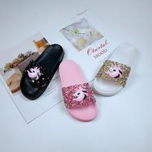Girls Shoes Soft-Sole Cartoon Indoor Cute Glitter