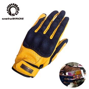 Touch Screen MOTO Gloves Denim With Sheepskin  Motorcycle Gloves Outdoor  Riding Glove Unisex Motocross moto gloves 2