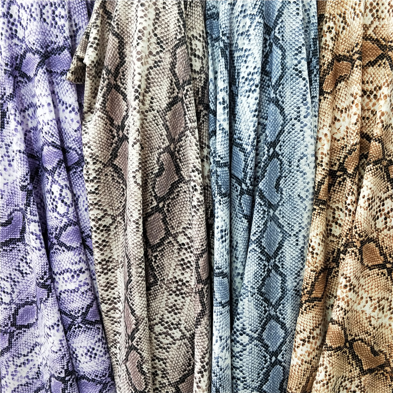 2020 Classic Snakeskin Printed Soft Non-Elastic Fabric for Dress Pants Shorts Suit Bedding Home Textiles
