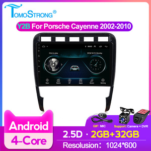 Car Radio Android Carplay BT For Porsche Cayenne 2002-2008 2009 2010 2.5D Video Player Multimedia GPS Navigation SWC 2Din No DVD