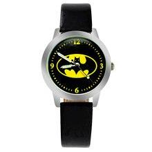 Новые популярные детские кварцевые часы с Бэтменом ремень Бэтмен