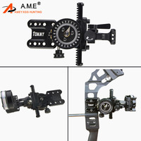 1pc Archery Compound Bow Sight Aluminum Alloy Adjustable 5 pins Bow Sights For Outdoor Competition Hunting Shooting Accessories