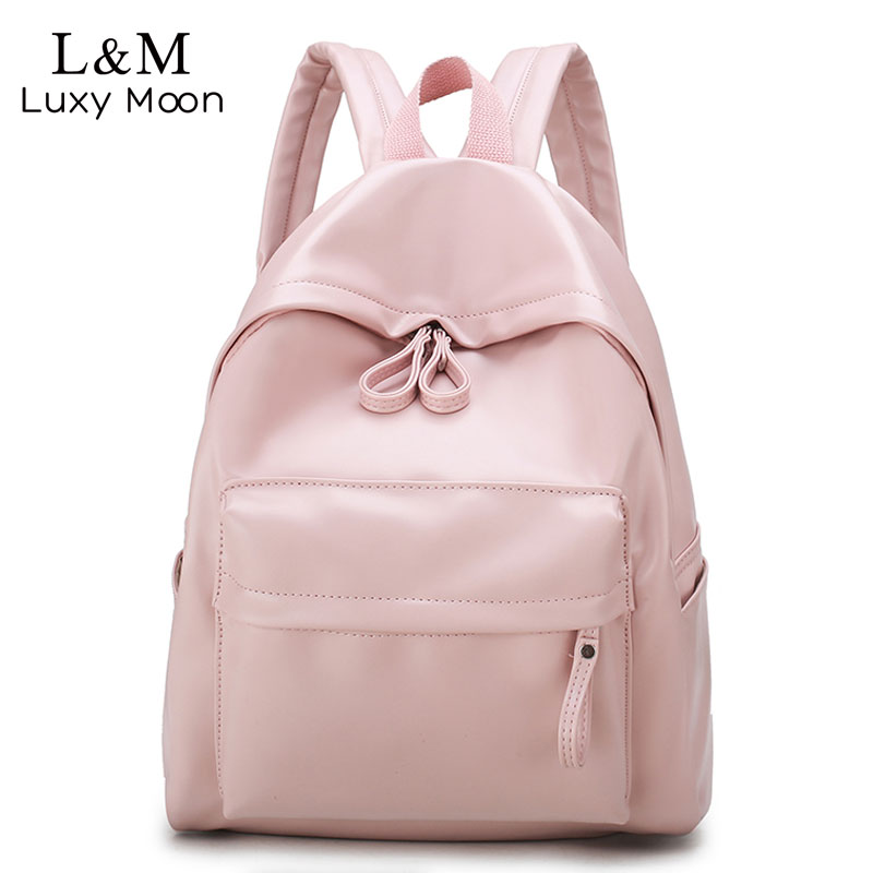 College Leather Backpack Women Multi Pocket Big Travel Backpacks Female School Bag for Teenage Girls Book Mochilas XA503H-in Backpacks from Luggage & Bags