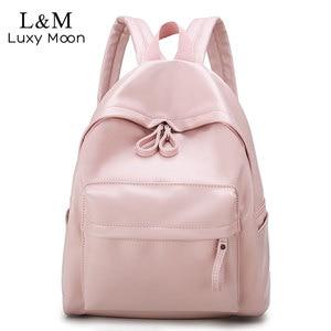 Image 1 - College Leather Backpack Women Multi Pocket Big Travel Backpacks Female School Bag for Teenage Girls Book Mochilas XA503H