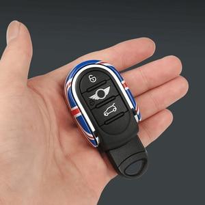 Image 4 - Car Styling etui na klucze pokrywa łańcucha flaga Union Jack dekoracji dla BMW Mini Cooper S JCW One D F54 F55 F56 F57 F60 akcesoria samochodowe